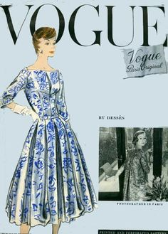 Vogue Paris Original Sewing Patterns | Vintage 50s Sewing Pattern Vogue Paris Original 1334 Designer Dresses ...