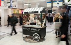 NCA created and designed a Banana Republic candy store sweet cart to publicise the new Canary Wharf store in London and Champs Elysees store in Paris during the busy Christmas period.