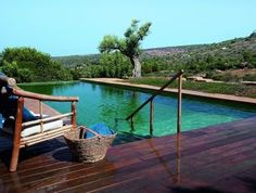natural pool in Israel with endless view
