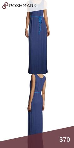 NWT Navy Sleeveless Maxi w/ Braided Belt Medium NWT Neiman Marcus Navy Sleeveless Knit Maxi Dress With Braided Belt Size Medium.   ⭐️Bundle for Discounts⭐️  🌺15% off 2+ Items! 🌺 Neiman Marcus Dresses