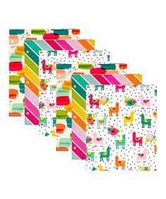 Llama Print, Carpe Diem, Organizing, Rainbow, Pocket, Eye, Printed, Paper, Color