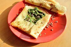 Naleśniki ze szpinakiem | Pancakes with spinach | http://www.codogara.pl/7401/nalesniki-ze-szpinakiem/