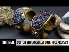 DIY How to make Unique Sutton Slice Bracelet Cuff. Polymer clay Jewelry making. VIDEO Tutorial! - YouTube