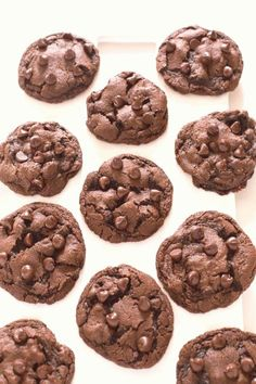 #Chocolate #cookies #cocoa #chocolate Soft  Chewy Double Chocolate Chip Cookies Made with semi sweet chocolate chips and cocoa powder These cookies take only 20 minutes to make start to finishbrp classfirstletterThe effective image We Offer You About sweetpA quality figure can tell you many things You can find the greater gorgeously image that can be presented on soft in this accountWhen you look at our control panel there are the images you like the max with the utmost 750 That photo that… Double Chocolate Chip Cookie Recipe, Semi Sweet Chocolate Chips, Easy Chocolate Cookies, Almond Cookies, Easy Cookie Recipes, Baking Recipes, Dessert Recipes, Delicious Desserts, Cake Recipes