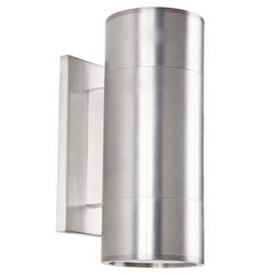 Thorburn Wide Wall Sconce in Brushed Aluminum Outdoor Sconces, Outdoor Light Fixtures, Frame Wall Decor, Unique Wall Decor, Porch Lighting, Outdoor Lighting, Modern Exterior Lighting, Hanging Mason Jars, Floor Fans