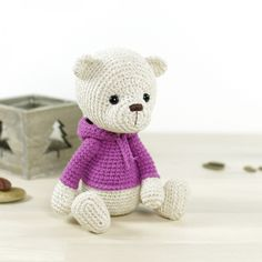 Teddy Bear In A Hoodie Amigurumi Pattern
