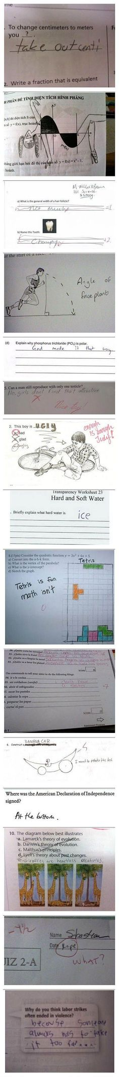 How to fail a test. lmfao!!