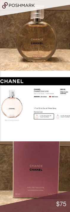 chanel chance eau vive A vibrant floral scent creates a playful impression with invigorating Grapefruit, Blood Orange, Jasmine, Cedar and Iris notes. Used twice CHANEL Other