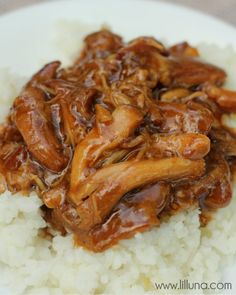 Crock Pot Teriyaki Chicken Recipe on { lilluna.com }