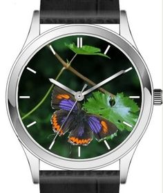 Butterfly wrist watch series - Purple Sapphire Butterfly