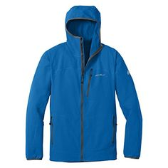 Eddie Bauer Men's SandstoneTM Soft Shell Hooded Jacket, Ascent Blue XL Tall Eddie Bauer ++You can get best price to buy this with big discount just for you.++