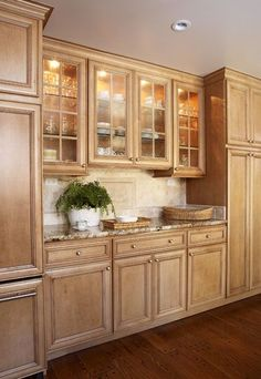 Kitchen Remodel Pictures Maple Cabinets light maple modern kitchen cabinets, white-ish granite counters
