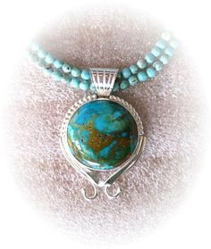 Michael Redhawk  Turquoise on Strands N58   Silver  H 0in x W 0in