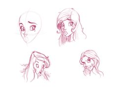 Paris Christou  tutorial sketching the head, my sketch