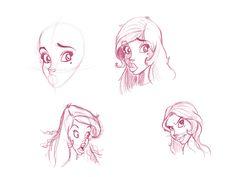 Paris Christou  tutorial sketching the head, my sketch