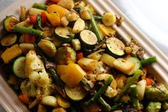 Roasted veggies. I like them cooked until they are practically sticky with caramelization, fresh from the oven. Like candy!