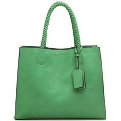 Bolsa Alça de Trança - Verde Esmeralda