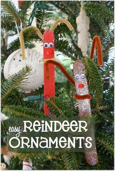 Host a fun Make Your Own Reindeer Ornament Party this holiday season and enjoy a #HolidayMadeSimple #Ad