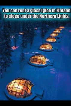 Glass igloos in Finland