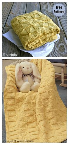 Soft-as-a-Cloud Baby Afghan Free Knitting Pattern #freeknittingpattern #easyknittingpatterns #knittingblankets