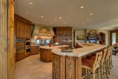 Check out this awesome wood finished kitchen! 703 Champagne Rd, Incline Village, NV, 89451 -- Homes For Sale