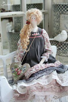 Tilda muñecas hechas a mano.  Masters Feria - hecho a mano.  Comprar Nicolet.  Por motivos Christina .. hechos a mano.  Tilda, lavanda