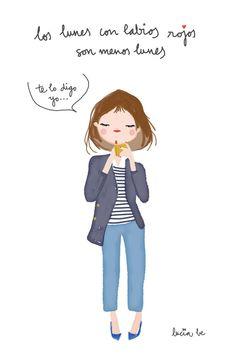 Una manera femenina de empezar la semana. #Lunes