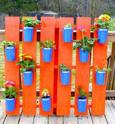 Palets porta planteras
