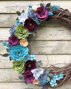 Flower Wood Wreath