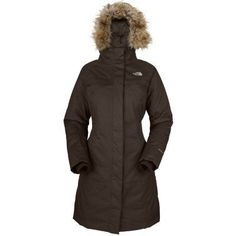 The North Face Women's Arctic Parka (M, Bittersweet Brown) by The North Face. $263.96. The North Face Women's Arctic Parka has a faux fur trim adding to the winter style on this fully waterproof and insulated garment designed for the wildest of winter days. This stylish trench coat features luxurious 550 fill down insulation for easy defence against freezing temperatures, enhanced by that collar trim around the adjustable and detachable hood and internal fleece in the cuffs.Sea...