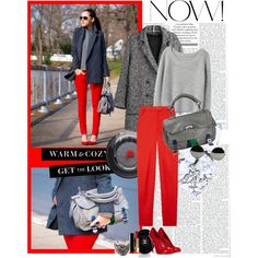 """""""RED & GREY"""" by bittersweetcolours on Polyvore"""