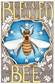 Bee art; to frame; honey bee is meaning of 'melissa'