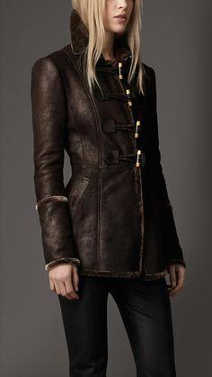 Shearling Duffle Jacket | Burberry  $2,595
