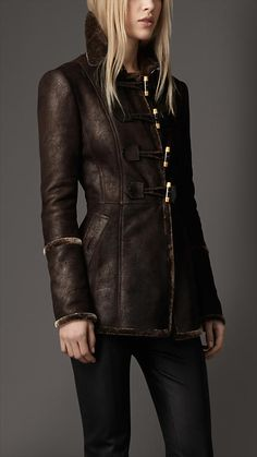 Burberry - Shearling Duffle Jacket  only $2,695.00  they are out of their minds, my truck cost less than that.