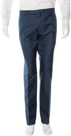 Valentino Wool Tapered Trousers Tapered Trousers, Mens Dress Pants, Valentino, Teal, Sweatpants, Stylish, Fashion, Moda, Fashion Styles