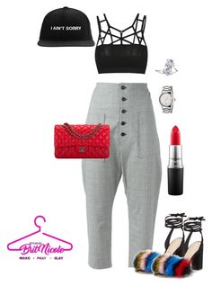 """Sorry not Sorry."" by brittanynicole-v on Polyvore featuring Étoile Isabel Marant, Loeffler Randall, Chanel, MAC Cosmetics, Lord & Taylor and Gucci"