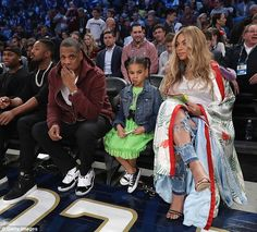 ACKCITY NEWS: Pregnant Beyonce Wraps Bump In Kimono As She Sits Courtside At NBA All-Star Game