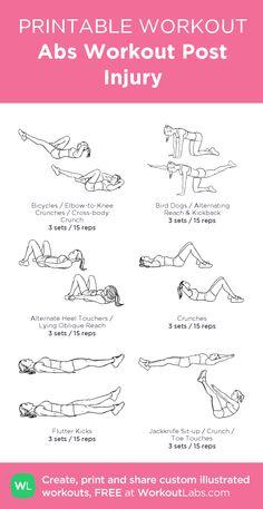 Abs Workout Post Injury