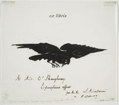 Illustration by Eduard Manet for THE RAVEN,1875.
