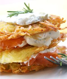 Potato Pancakes Recipe — Potato Pancakes with Smoked Salmon — Cooking & »Meals — Eatwell101