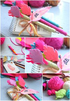helana and ali: Felt Feather Topper - DIY quick and easy gift