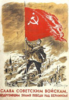 1945_SLAVA GEROYAM, VODRUZIVSHIM ZNAMYA POBEDY NAD BERLINOM!_N.Karpovskij.jpg (565×827)