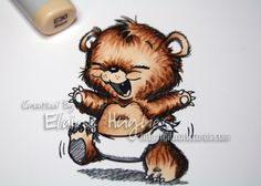 Color Me Copic: Elaine's Bear/Animal Coloring Tutorial + Challenge #5