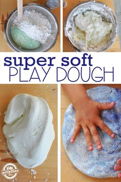 A super soft, no cook play dough recipe your kids will love playing with!