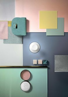 With the Cromatica collection developed for CEDIT, Studio Formafantasma investigates the potential of colour in contemporary ceramic covering manufacturing. Mint Kitchen Walls, Mint Walls, Mint Color Palettes, Green Colour Palette, Mood Board Interior, Interior House Colors, Blue Wallpaper Iphone, Blue Wallpapers, Contemporary Ceramics