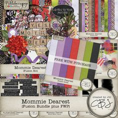 Mommie Dearest - Fusion Bundle plus FWP Simple Solids Paper Pack - Save 25% when you purchase this awesome bundle!