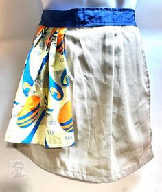 Waist Aprons Crafted From Recycled Fabrics Reusable Materials