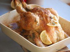 Kip met citroen en dragon uit de oven