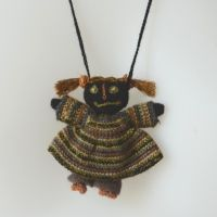 Collar a little doll crocheted Sophie Digard