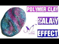How to do Galaxy Effect with Polymer Clay - Fimo Tutorial - DIY - YouTube